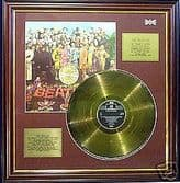 THE BEATLES Sgt Pepper - LP gold disc & cover