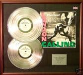THE CLASH - Double Platinum Disc+cover - LONDON CALLING