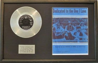 THE MAMAS & THE PAPA'S -Platinum Disc & Song Sheet- DEDICATED TO THE ONE I LOVE