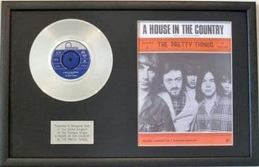 THE PRETTY THINGS - Platinum Disc & Song Sheet - A HOUSE IN THE COUNTRY