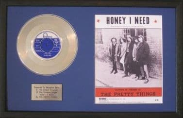 THE PRETTY THINGS-Platinum Disc&Song Sheet-HONEY I NEED