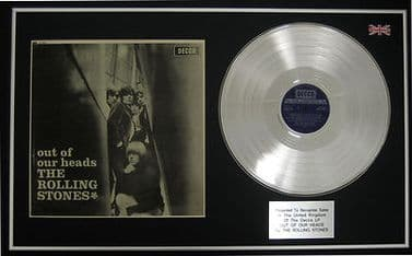 THE ROLLING STONES - LP Platinum disc & cover - OUT OF OUR HEADS
