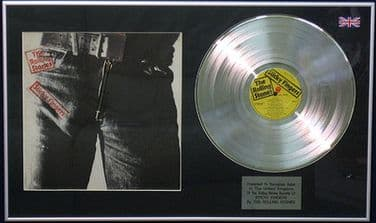 THE ROLLING STONES - LP Platinum Disc & Cover with zip - STICKY FINGERS