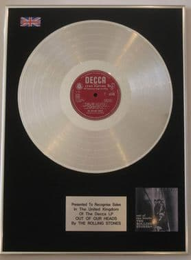 THE ROLLING STONES - LP Platinum Disc - OUT OF OUR HEADS (Decca unboxed lable)