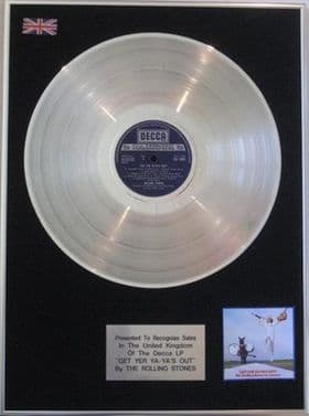 THE ROLLING STONES - Platinum Disc LP  - 'GET YOUR YA YA'S OUT'