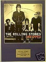 THE ROLLING STONES -  STRIPPED  -  Framed LP Cover
