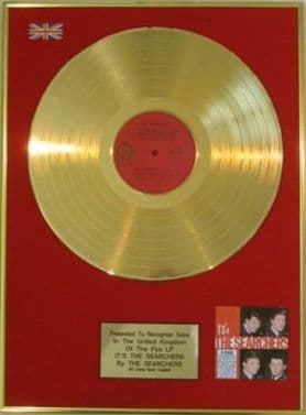 THE SEARCHERS - 24 Carat Gold Disc - IT'S THE SEARCHERS