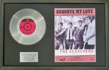 THE SEARCHERS-Platinum Disc & Songsheet-GOODBYE MY LOVE
