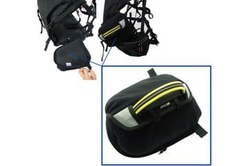 APCO ZIP ON RESERVE PARACHUTE SIDE POCKET 80029 FOR UNIVERSAL SLT PARAMOTOR HARNESS (POCKET ONLY)