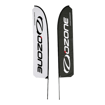 Ozone Vertical banner RIGHT 3m high in BLACK