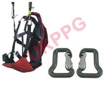 UKPPG Paramotor and Paraglider Wing Ground Training Harness & Quality Carabiners - EOLE
