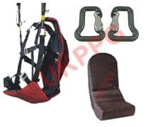 UKPPG Paramotor Wing Training Harness, 100mm Foam back Protector & Quality Carabiners (Flyable) EOLE