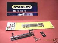 """STANLEY 4"""" NECKED barrel Bolt. 1 pack with screws. chrome 83-2130"""