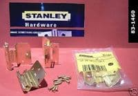 STANLEY double crank insert flush hinges.2 pack with Screws. EB.83-1460