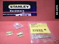 "STANLEY narrow 1"" miniture BUTT hinges.2 pack with screws. EBrass 83-1070"