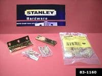 "STANLEY Solid polished BRASS BUTT hinges.3"".2 pack with screws. 83-1160"