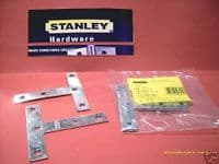 """STANLEY Zinc Plated 4"""" mending T plates. Pack 2. 30-1724"""