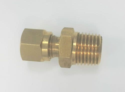 "1/4"" BSPT brass connection fitting to suit 6mm connection"