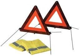 2 EEC Warning Triangles + 2 High Visibility Jackets 2707125