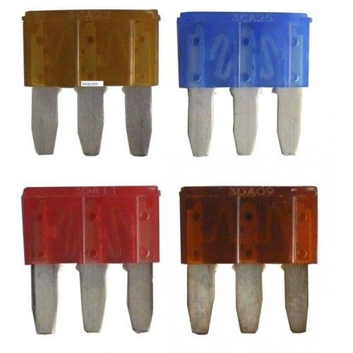 3 Prong Mini Blade Fuses Assorted Pack. PWN1303