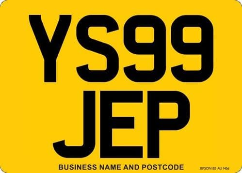 4x4 Car Replacement Number Plates Made At Whiteheads While You Wait