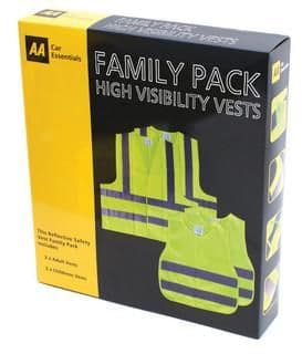 AA Family High Visibility Vest Pack AAVIZFAM