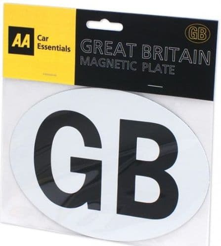 AA GB Plate Magnetic For UK Vehicles Touring Abroad, PUB10101