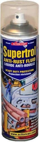 Action Can Supertrol 001 Anti Rust Fluid, Corrosion Protection 500ml Aerosol