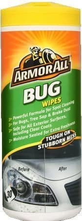 Armor All Bug Wipes, 30 Wipes, Remove Bugs & Tough Stains 75130EN
