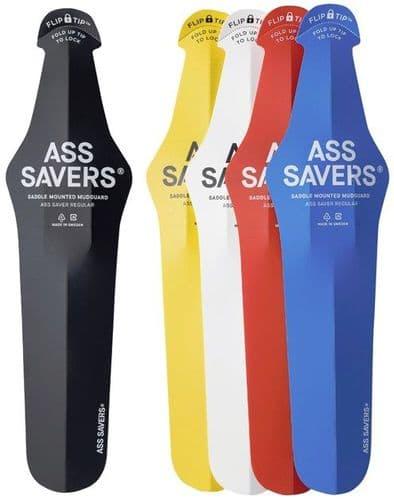 Ass Savers Extended Clip On Mudguard. 6 Colours Available