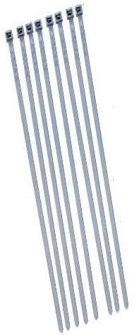 Cable Ties, Silver, Ideal For Securing Wheel Covers, Pack Of 8, CT370S