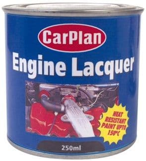 CarPlan Engine Lacquer, Heat Resistant Paint 250ml. 3 Colours Available
