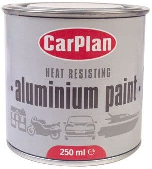 CarPlan Heat Resisting Aluminium Paint 250ml. ALP250