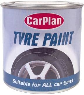 CarPlan Tyre Paint, Suitable For All Car Tyres 250ml. TPT250
