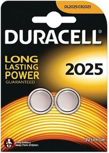 Duracell Long Lasting Power 2 x CR2025 Lithium Batteries