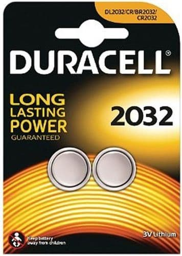 Duracell Long Lasting Power 2 x CR2032 Lithium Batteries