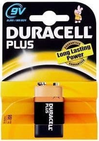 Duracell Plus 9 Volt Battery Pack of 1, MN1604