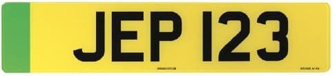 Green Zero-Emission  Car Replacement Number Plates