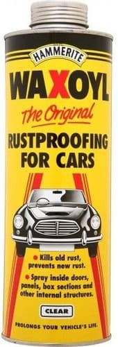 Hammerite Waxoyl Schutz Rustproofing Treatment. Kills Rust. 1 Litre. 2 Colours Available