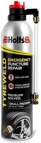 Holts Tyreweld Emergency Puncture Repair. Officially Approved By The NTDA. 400ml HT3Y