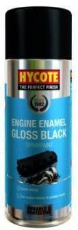 Hycote Engine Enamel, Temperature Resistant High Gloss Finish 400ml. 3 Colours Available