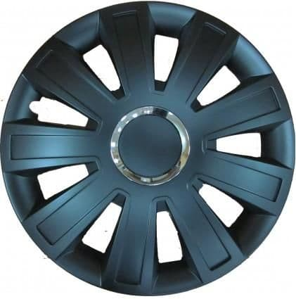 """Inferno Black Wheel Trims, Modern Design Covers Available For 13"""", 14"""" & 15"""" Wheels, Set Of 4"""