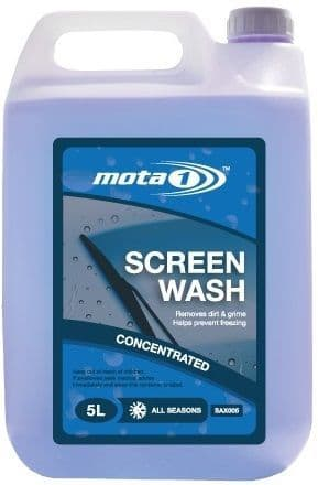 Mota 1 All Seasons Concentrated Screen Wash 5 Litre SAX005 | Winter Motoring in Carlisle Cumbria