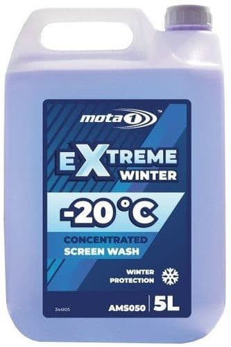 Mota 1 Extreme Winter -20°C Screen Wash 5 Litre. AMS050