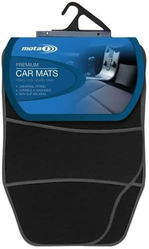 Mota 1 Premium Carpet Car Mat Set with Black Detail ACM103