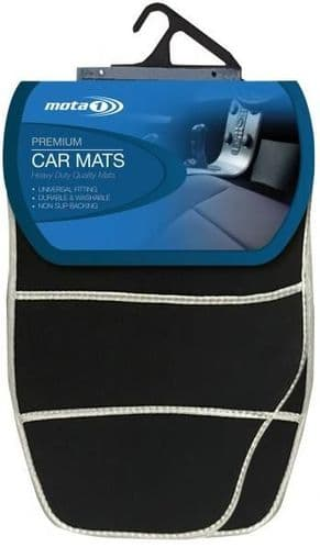 Mota 1 Premium Carpet Car Mat Set with Silver Detail ACM102