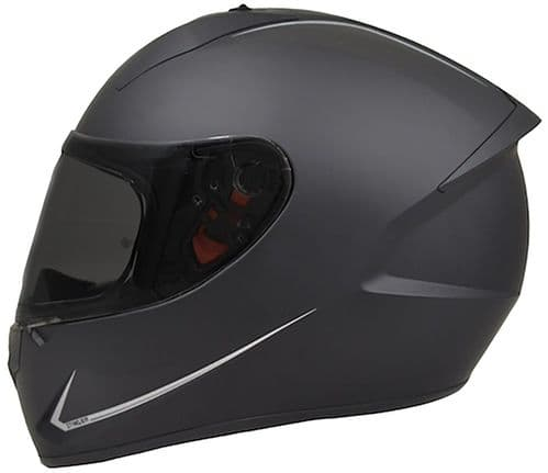 MT Stinger Matt Black Full Face Crash Helmet, 6 Sizes Available