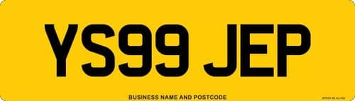 Oversize Car Replacement Number Plates Made At Whiteheads While You Wait