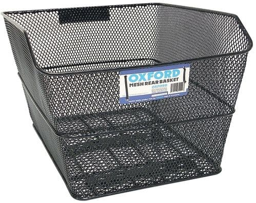 Oxford Mesh Rear Basket Black With Fittings BK152