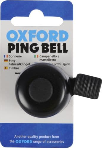 Oxford Ping Cycle Bell, Silver Or Black Available
